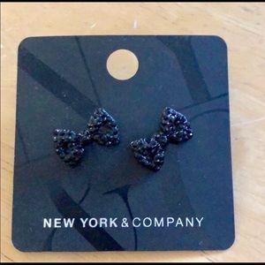 NY & CO Bowtie Earrings NWT